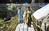 Come on big boy (eemoboo) Tags: bull kid kashmir collapsed bridge muzafarabad shahi outside