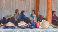 Ladies resting. (Gilama Mill) Tags: hanoi vietnam rest resting ladies asia people streets travel temple