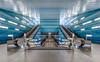 Underground (Karsten Gieselmann) Tags: 714mmf28 blau em5markii germany mzuiko microfourthirds olympus türkis ubahn ubahnstation blue kgiesel m43 mft subwaystation turquoise überseequartier hamburg deutschland exposurefusion