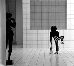 Strange Goings On... (Edinburgh Photography) Tags: person performer costume documentary photojournalism monochrome sculpture tate britain london nikon d7000
