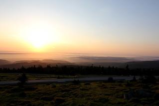 Sonnenaufgang auf dem Brocken