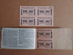 Gasoline Ration Tickets, 1942 (vintage.winnipeg) Tags: winnipeg manitoba canada vintage history historic