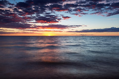 Say Yes to Michigan Sunsets! (matthewkaz) Tags: sunset sky clouds lakemichigan lake water greatlakes reflection reflections christmascove christmascovebeach leelanau summer northport michigan 2017 waves