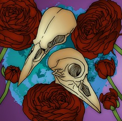 Roses and skulls #birdskulls #birdsskull #roses #flowers #goth #gothic #emo  #surreal #popart #pop #psychedelic #psychological #thehumancondition #digitalart #digitalcoloring #art #beautiful #creative #cteativity #concept #conceptual #colouring (muchlove2016) Tags: birdskulls birdsskull roses flowers goth gothic emo surreal popart pop psychedelic psychological thehumancondition digitalart digitalcoloring art beautiful creative cteativity concept conceptual colouring