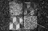 Mosaic (sinnedasAkmak) Tags: four square texture marble floor piece tile black white bw grey grass