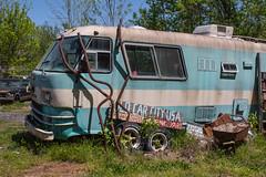 Junkyard Camper (Todd Evans) Tags: canon t6 efs1855mmf3556isii oldcarcity georgia ga camper rust rusty junkyard dodge