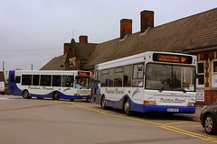 Darts on Rail Replacment (Chris Baines) Tags: panther travel dennis dart plaxton pointers big 9856 dc56 pan manningtree rail replacment service
