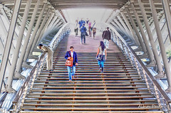stairway to... (albyn.davis) Tags: paris stairs stairway steps light people europe france travel color colors