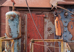 RedDoor - No. 6 Ore Car - Bethlehem Steel Plant (JohnColeUSA) Tags: bethlehemsteelplant bethlehemsteelmill bethlehempa usa abandoned bethlehemironworks bethlehemsteelworks decayed deteriorating discolored geometric industrial metalrust stained steelmill steelprocessing texture urban lehighvalley lehighcounty railroad orecar