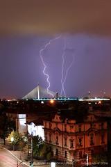 20160822-0423 (srkirad) Tags: night skyline serbia srbija beograd belgrade lightning lightnings storm stormy clouds cloudy triple triplet
