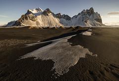 ARISE (Dany Eid) Tags: iceland hofn travel landscape rock snow nordic storm sunrise brown location destination ice nature