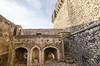 DSC_5092 Castello Caetani di Sermoneta  : veduta dalla scala d'accesso al cortile (sandromars) Tags: italia lazio latina sermoneta castellocaetani