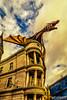 Gringotts' Dragon (gvonwahlde) Tags: orlando gringottsbank dragon diagonalley magic wizardingworldofharrypotter wizardingworldorlando florida fl harrypotter hpcelebration wwohp universalstudios universalorlando universalstudiosorlando universalmoments universalmemories readyforuniversal travel canon canon6d niksoftware