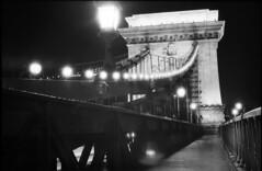 light bridge (Arpadkoos) Tags: light bridge id11 fortepan thebridge chain duna budapest
