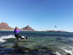 Amanda too enjoyed kite surfing this year.