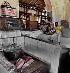 Catch of the day (louise peters) Tags: fishmarket vismarkt fish vis marketplace markthal stonetown zanzibar tanzania afrika africa streetscape capital straatbeeld hoofdstad town stad