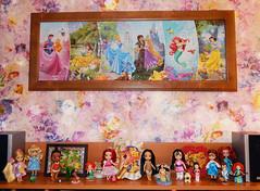 Disney store mini (Lindi Dragon) Tags: doll disney disneyprincess disneystore mini animators rapunzel cinderella moana ariel little mermaid mulan pocahontas belle beauty merida