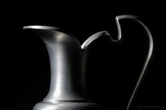 pewter jug (sure2talk) Tags: macromondays lowkey pewterjug macro closeup nikond7000 nikkor85mmf35gafsedvrmicro flash speedlight sb900 offcamera snoot