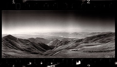 Eroded (tsiklonaut) Tags: horizon 202 panorama panoramic 35mm 135 roll film analog analogue analogica analoog 120 kyrgyzstan kirgiisia mäed mountains tianshan tengri tagh tian shan wide black white negro y blanco mustvalge agfa apx 400 ethol ufg drumscan scan scanner pmt photomultiplier tube maastik landscape travel discover experience