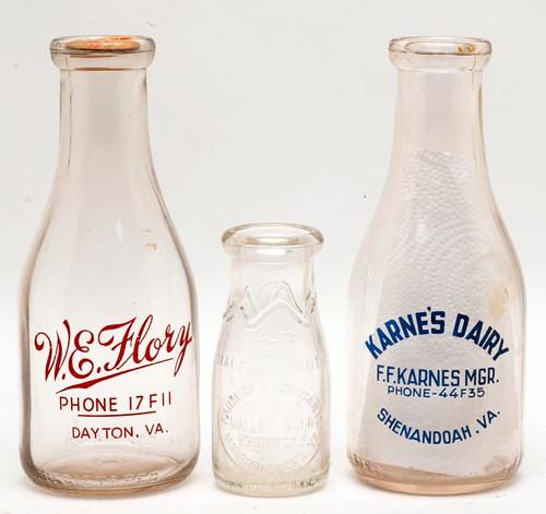 Karne's Dairy (Shenandoah, VA) Milk Bottle ($392.00)