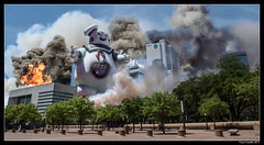 What did you do Ray? (lyncaudle) Tags: forcedperspective lyncaudle miniture models scifidallas dallas stay puft ghostbusters