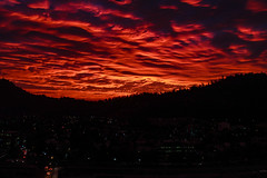Love is red (LuisValV) Tags: sunset dawn sunrise dusk dramaticsky sun twilight fog moody sky evening silhouette red chile santiago clouds cloud nube nubes rojo cielo city ciudad ocaso atardecer