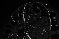 Big wheel - Riesenrad (b_kohnert) Tags: einfarbig monochrome schwarzweis blackandwhite