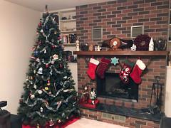Xmas Tree 2017 4 (daryl_mitchell) Tags: winter 2017 saskatoon saskatchewan canada xmas tree home fireplace