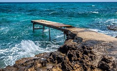 Protaras, Cyprus. (CWhatPhotos) Tags: cwhatphotos 2018 april digital camera pictures picture image images photo photos foto fotos that have which contain olympus seafront golden coast beach blue sky skies sunny day holiday cyprus eastern protaras path flowers scenery buildings seaside