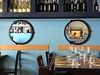 mirrors in a restaurant (Hayashina) Tags: italy treviglio person table restaurant round mirror