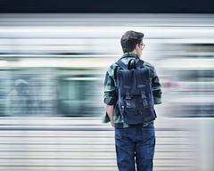 speed of the city (-liyen-) Tags: city urban street toronto subway metro ttc candid motion motionblur blur man waiting ontario canada mpt623 matchpointwinner matchpointchampion challengeyouwinner