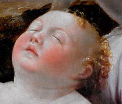 """Child Jesus asleep"" - Detail of ""The Virgin Mary, Saint Joseph, Child Jesus with Saint Francis, Saint Anthony of Padua and Saint John the Evangelist"" (1533-1537) by Girolamo Mazzola Bedoli (Parma, about 1500-1569) - Capodimonte Museum in Naples (Carlo Raso) Tags: virginmary saintjoseph childjesus saintfrancis saintanthonyofpadua saintjohntheevangelist girolamomazzolabedoli capodimontemuseum naples"