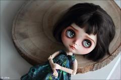 Pensive girl (Liberty's dream) Tags: doll poupée blythe fc full custo make up customisation portrait realist eyeships