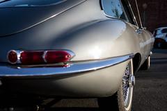 1964 Jaguar E Type (Photos By Clark) Tags: california canon2470 unitedstates location northamerica canon5div locale places where escondido us jaguar icon classic gray grey wirewheel restored