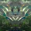 Spring Rabbit (rhonda_lansky) Tags: green bunny rabbit spring painting acrylic mirror mirrored flipped