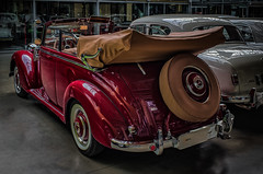 MERCEDES 170S CONVERTIBLE - rear view (Peter's HDR-Studio) Tags: petershdrstudio hdr classiccar mercedesbenz oldtimer klassiker vintage auto convertible cabriolet red rot car