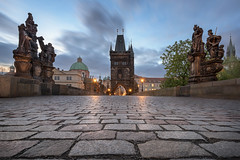 Charles Bridge in the Morning, Prague, Czech Republic (ansharphoto) Tags: architecture bohemia bridge building capital charles church city cityscape cobblestone czech dawn destination dome europe european figure gothic historical history house iconic illuminated landmark landscape lights medieval morning night old praga prague praha republic river saint sculpture sky skyline spire statue street tourism tower town travel twilight urban vacation vltava