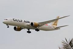 A9C-FA Gulf Air Boeing B789 (twomphotos) Tags: plane spotting obbi bah boeing b789 dreamliner gulf gulfair air landing cloudy desert bestofspotting