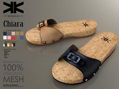 Chiara :: Woman Shoes :: 10 Colors ({kokoia}) Tags: chiara shoes mesh kokoia maitreya slink tmp belleza woman sumner feet flat sandals wood fashion summer classic secondlife
