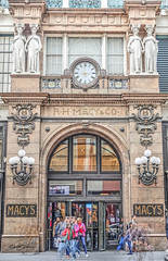 3:00 (albyn.davis) Tags: nyc newyorkcity macys shopping street doubleexposure hdr entrance door travel people landmark facade city urban