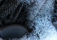Little Scrubber (LoomahPix) Tags: macromondays readyfortheday black bubbles cleaning closeup macro macrophotography morning shower soap nikon d750 velbon