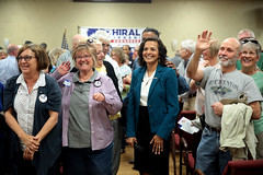 Hiral Tipirneni with supporters (Gage Skidmore) Tags: hiral tipirneni united states congress congressional campaign surprise community center arizona town hall