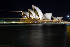 Opera House (avaughan585) Tags: sydney nsw australia night longexposure long exposure light dark water operahouse eos1200d canon harbour travel globetrekker buildings architecture waterways