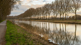 Promenade du dimanche L'escaut Belgique