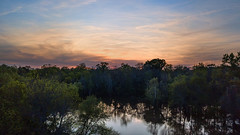 Neuse River Sunset - 042118-194441 (Glenn Anderson.) Tags: sun mavicpro drone outdoor sky cloud skyscape solar serene evening landscape sunset cloudsstormssunrisesandsunsets waynesbourghpark clouds water reflection calm trees dusk