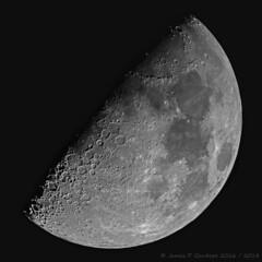 Moon Mosaic 09-09-2016; Revised Processing 4-24-2018 (Zeta_Ori) Tags: moon firstquartermoon waxinggibbousmoon luna mosaic canont3i explorescientificed80apo explorescientific3xbarlow explorescientificed80apotriplet orionshortybarlow celestronadvancedvxmount monochrome reprocessing blackandwhite bw blackbackground hemishere contrast texture craters