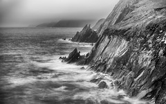 A stormy day in Slea Head (B+W) (Free Derry) Tags: ireland dingle
