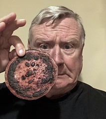 Self-Portrait With Slice of Burnt Bologna (ricko) Tags: selfportrait bologna slice burnt meat werehere 117365 2018