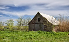 The Old Barn (Kool Cats Photography over 10 Million Views) Tags: building barn grass green sky landscape oklahoma scenic farm