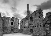 The Norman House in Christchurch, Dorset UK (clive_metcalfe) Tags: stone christchurch dorset uk norman house ancient ruin chimney blackandwhite bw monochrome windows heritage